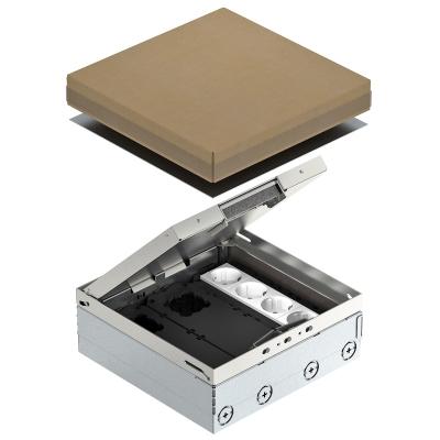 Лючок UDHome9 с монтажной коробкой GB3, укомплектованный, из нержавеющей стали — арт.: 7427300