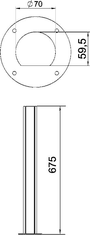Схема Алюминиевая электромонтажная колонна ISSRHSM45 — арт.: 6290090