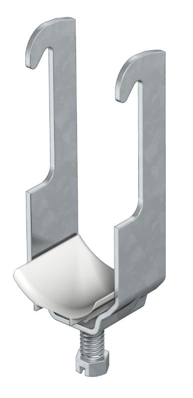 Зажимная скоба 1-секционная, с пластиковой прижимной пластиной — арт.: 1180126