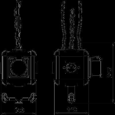 Схема Блок питания VH-4, с 3 розетками с заземляющим стержнем и 1 розеткой CEE 16 A — арт.: 6109808