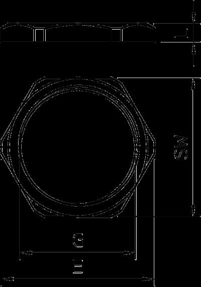 Схема Контргайка с резьбой PG — арт.: 2091070