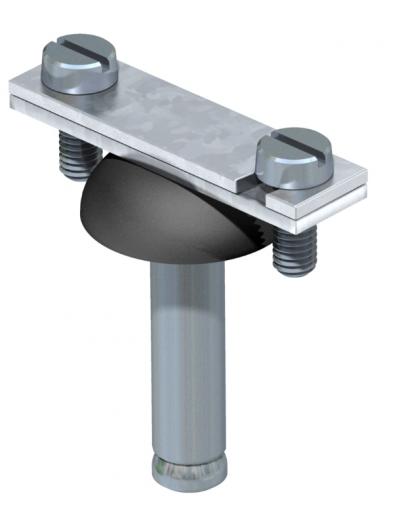 Держатель для плоских проводников со стальным распорным дюбелем Ø 10 мм — арт.: 5028035