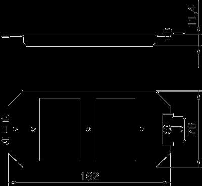 Схема Монтажная рамка для телекоммуникационных модулей, системная длина 165 мм — арт.: 7407836