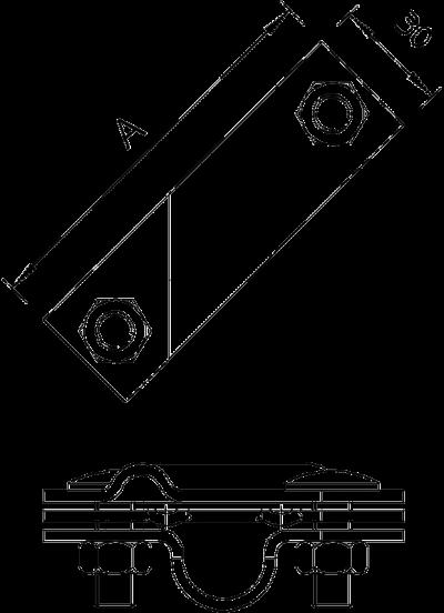 Схема Соединитель для стержней заземления, универсальный — арт.: 5001641