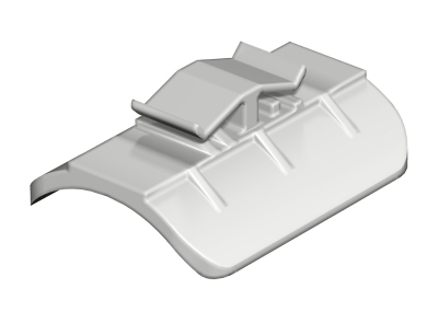 Пластиковая прижимная пластина, ширина шлица 16 — 17 мм — арт.: 1195123