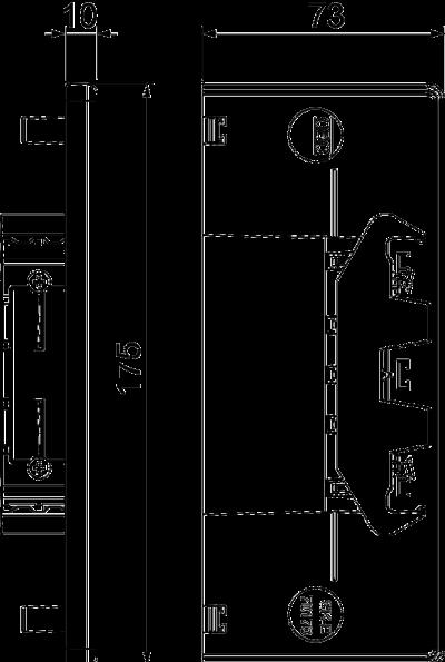 Схема Пластиковая торцевая заглушка — арт.: 6274774