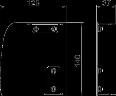 Схема Торцевая заглушка Soft левая — арт.: 6115935