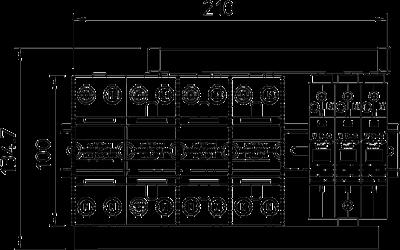 Схема Комплект защиты MCD + V20 3-полюсный + NPE — арт.: 5089761