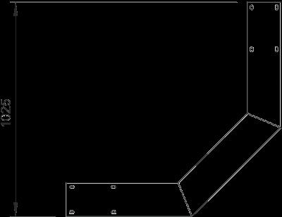 Схема Вертикальная угловая секция 90°, восходящая — арт.: 6230423