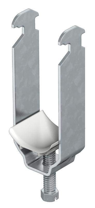 Зажимная скоба 2-секционная, с пластиковой прижимной пластиной — арт.: 1161121