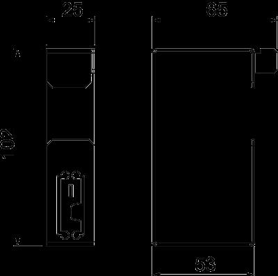 Схема Скоба для настенного монтажа — арт.: 7216370