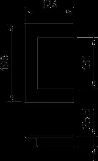 Схема Настенная торцевая заглушка из ПВХ, открытая, для кабельных коробов 90130 — арт.: 6274920