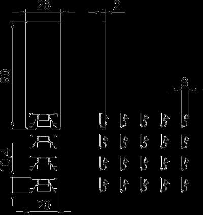 Схема Защелкивающаяся скоба для крышки с системным отверстием 45 мм — арт.: 6288703