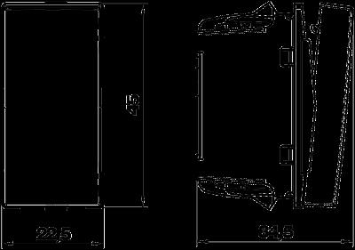 Схема Перекрестный переключатель, ширина 1/2 модуля — арт.: 6117670