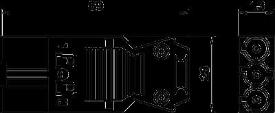 Схема Штекерный адаптер 3-полюсный, с винтовым соединением — арт.: 6108054