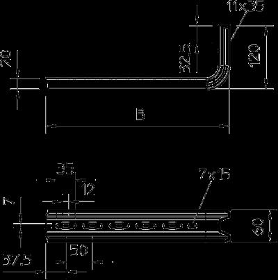 Схема Стойка / настенный и опорный кронштейн TP — арт.: 6364101