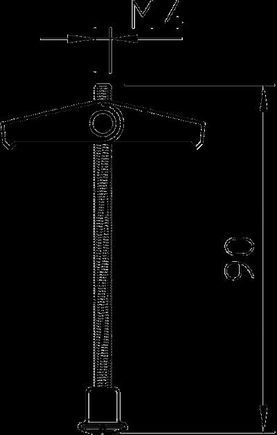 Схема Пружинно-откидной дюбель со стержнем и гайкой — арт.: 3481662