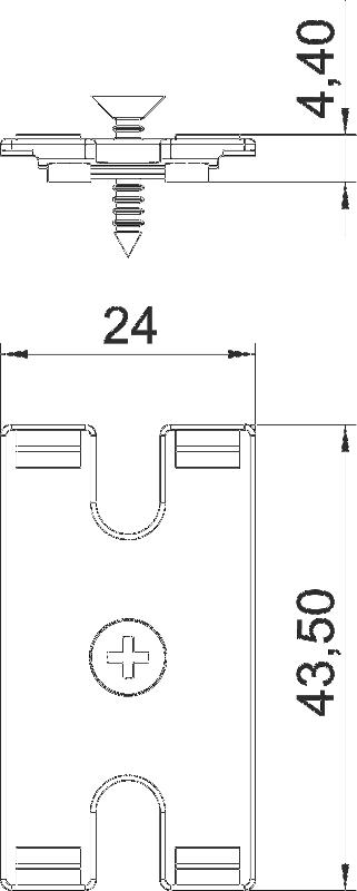 Схема Комплект для крепления настольного бокса DB под столешницей — арт.: 6116986