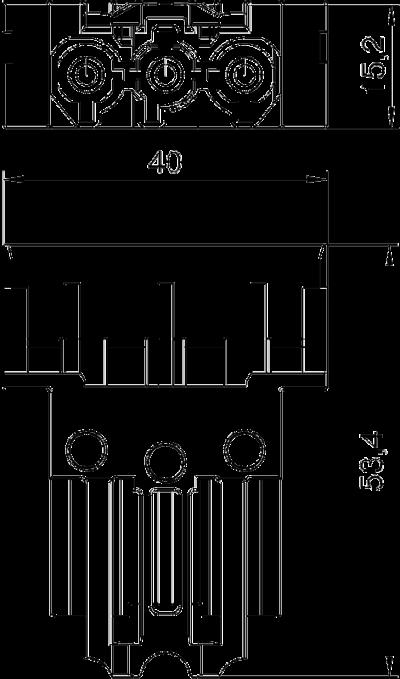 Схема Штекерный соединительный адаптер, прямой — арт.: 6117192