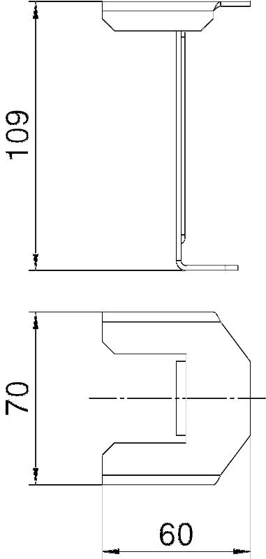 Схема Опора крышки, для кабельного лотка с боковой стенкой высотой 110 мм — арт.: 6049256