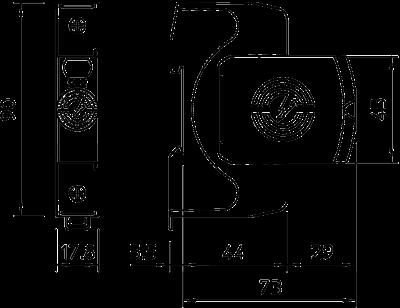 Схема Разрядник для защиты от перенапряжений V20 1-полюсный, 150 В — арт.: 5095151