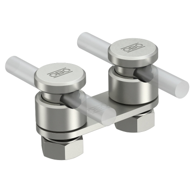 Соединитель проводников Rd 8-10 мм с прижимной пластиной, двойной — арт.: 5304270