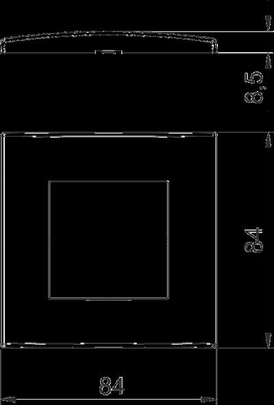 Схема Рамка AR45 одинарная — арт.: 6119322