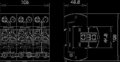 Схема Молниезащитный разрядник 3-полюсный — арт.: 5096876