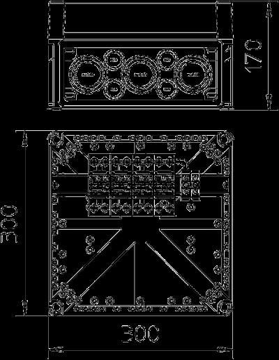 Схема Корпус VG с разрядником MCD 50-B/3+1 — арт.: 5096875