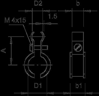 Схема Тросовый зажим для подвеса на трос — арт.: 2307618