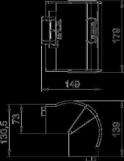 Схема Крышка внешнего угла, регулируемая — арт.: 6274610