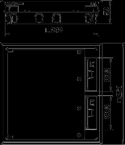 Схема Квадратный лючок для установки в стяжке высотой 55 мм — арт.: 7405037
