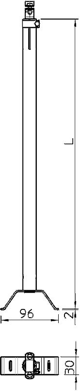 Схема Регулируемая изоляционная траверса для крепления к трубе — арт.: 5408849