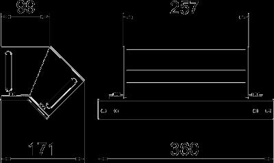 Схема Вертикальная угловая секция 45° нисходящая — арт.: 7216455