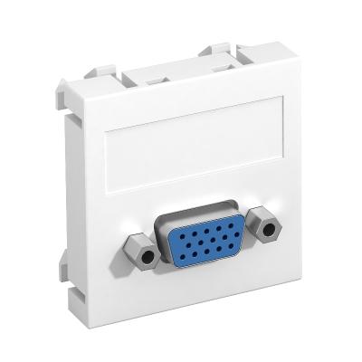 Мультимедийная рамка с разъемом VGA, ширина 1 модуль, с прямым выводом, для винтового соединения — арт.: 6104610