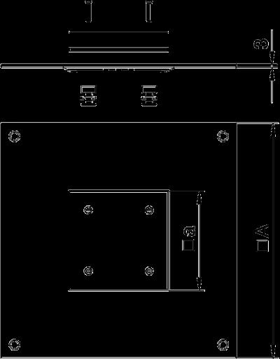 Схема Крышка монтажного основания 350-3 с отверстием для напольного бокса Telitank — арт.: 7400431