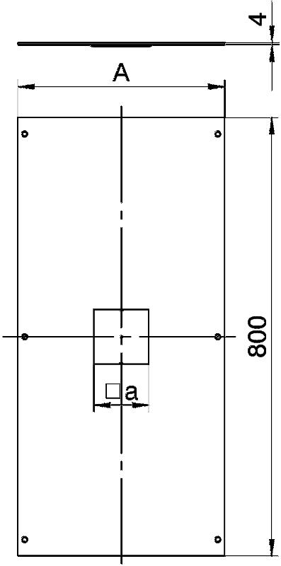 Схема Крышка с отверстием для напольного бокса Telitank, 800 мм — арт.: 7401904