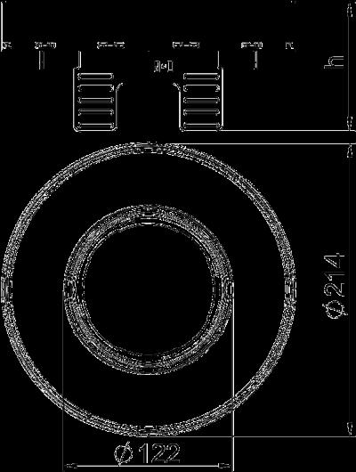 Схема Регулируемая кассетная рамка RKFRNUZD3 для тубуса, из нержавеющей стали — арт.: 7409442