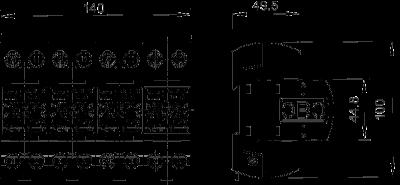 Схема Комбинированный разрядник 3-полюсный + NPE — арт.: 5096879