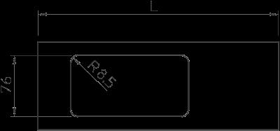 Схема Крышка с отверстием для двойной монтажной коробки, для кабельного короба высотой 130 мм — арт.: 6194117