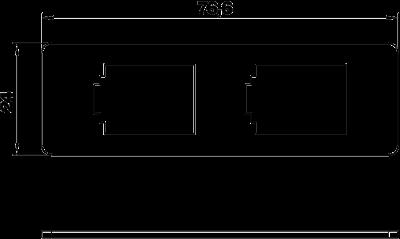 Схема Суппорт для 2х телекоммуникационных модулей типа В — арт.: 7408703