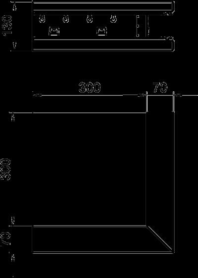 Схема Внешний угол для кабельного короба высотой 70 мм — арт.: 6277210