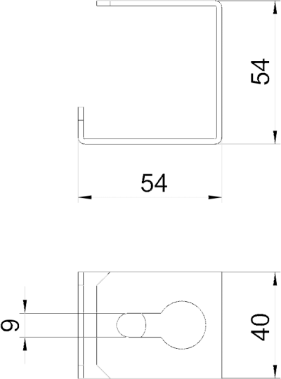 Схема Скоба для потолочного монтажа — арт.: 7216372