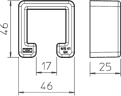 Схема Защитный колпачок MS 41 — арт.: 1122900