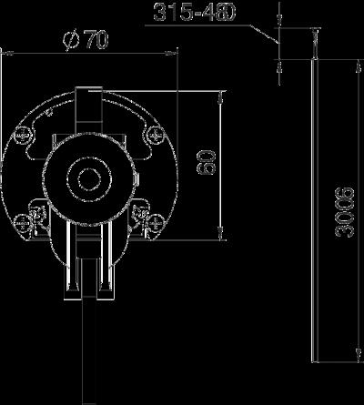Схема Алюминиевая электромонтажная колонна ISSRM45 — арт.: 6290087