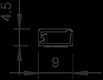 Схема Мини-канал на клейкой основе с шарнирной крышкой MD4 — арт.: 6150268