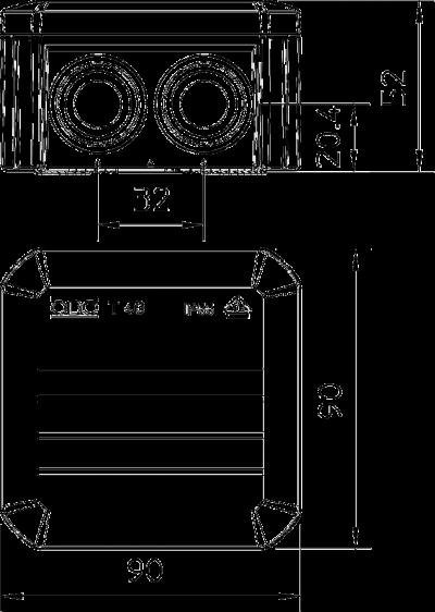 Схема Распределительная коробка Т-40 со вставным уплотнителем — арт.: 2007045
