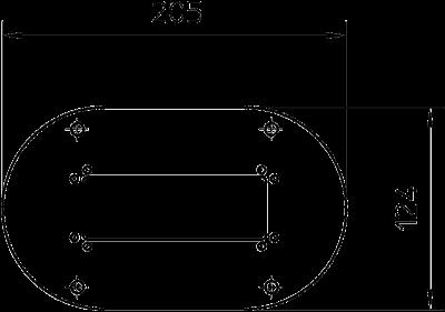 Схема Напольная пластина для электромонтажной колонны ISSOG70140 — арт.: 6290124