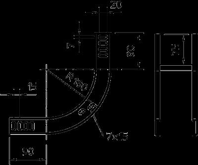 Схема Вертикальная угловая секция 90° восходящая — арт.: 7007170