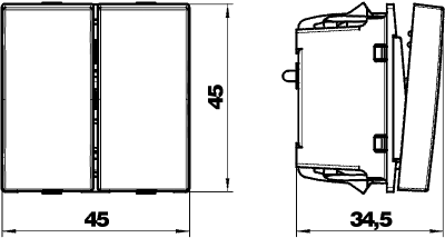 Схема Переключатель на несколько направлений, ширина 1 модуль — арт.: 6117615